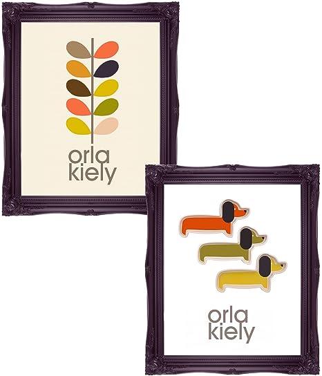 Orla Kiely style art / Orla Kiely style prints / contemporary art / interior design /  sc 1 st  Amazon UK & Orla Kiely style art / Orla Kiely style prints / contemporary art ...