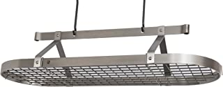 product image for Enclume Premier 4-Foot Oval Ceiling Pot Rack, Stainless Steel