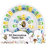 Deluxe Decorative Tape Set (30 Pack) with with Cute Dispenser