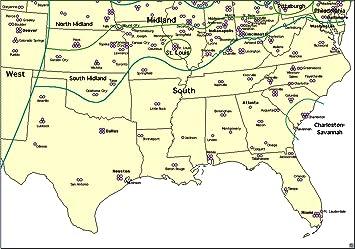 Amazon.com: Home Comforts Laminated Map - Southern Region Us States ...