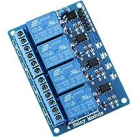 ELEGOO Module Relais 5V DC 4 Canaux avec Optocoupleur 4-Channel Relay Module pour Arduino UNO R3 Mega 2560 1280 DSP Arm PIC AVR STM32 Raspberry Pi