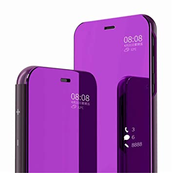 PANXIYUE Funda Xiaomi Mi 9,Carcasa Espejo Mirror Flip Fund para Xiaomi Mi 9(Púrpura