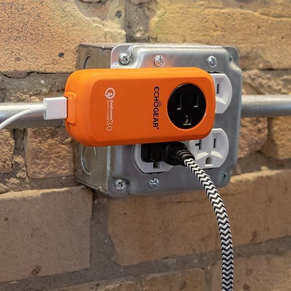 Amazon.com: AC/USB giratorio de viaje cargador rápido: ECHOGEAR