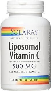 Solaray Liposomal Vitamin C 500 mg VCapsules, 100 Count