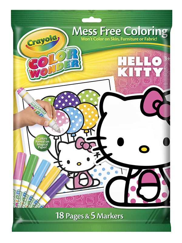 Amazoncom Crayola Color Wonder Hello Kitty 18 Page Coloring Pad