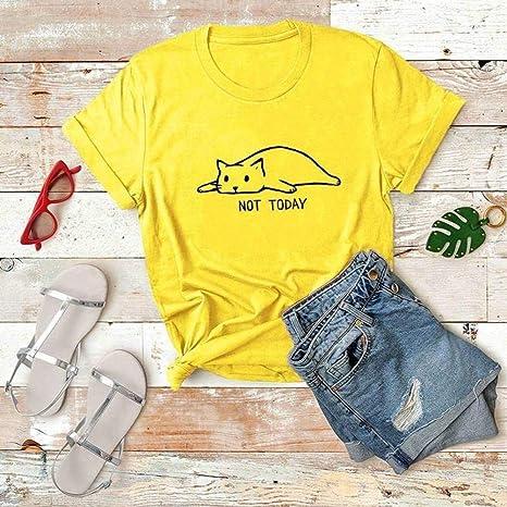 D-X Camiseta de Moda Simple No de Algodón de Talla Superior, Amarillo, s: Amazon.es: Deportes y aire libre