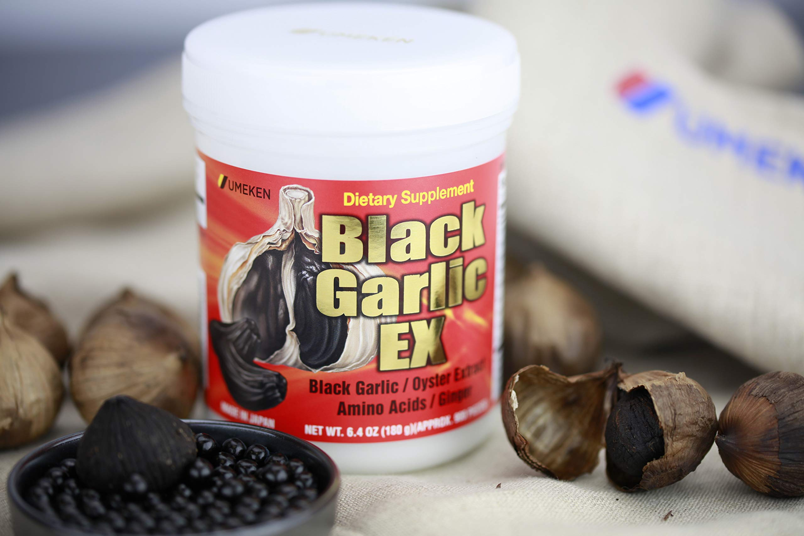 Umeken Black Garlic EX - Fermented Black Concentrated Garlic Extract - Rich in Vitamin B1, Allicin, Amino Acids. About 3 Month Supply. Made in Japan. by Umeken (Image #4)