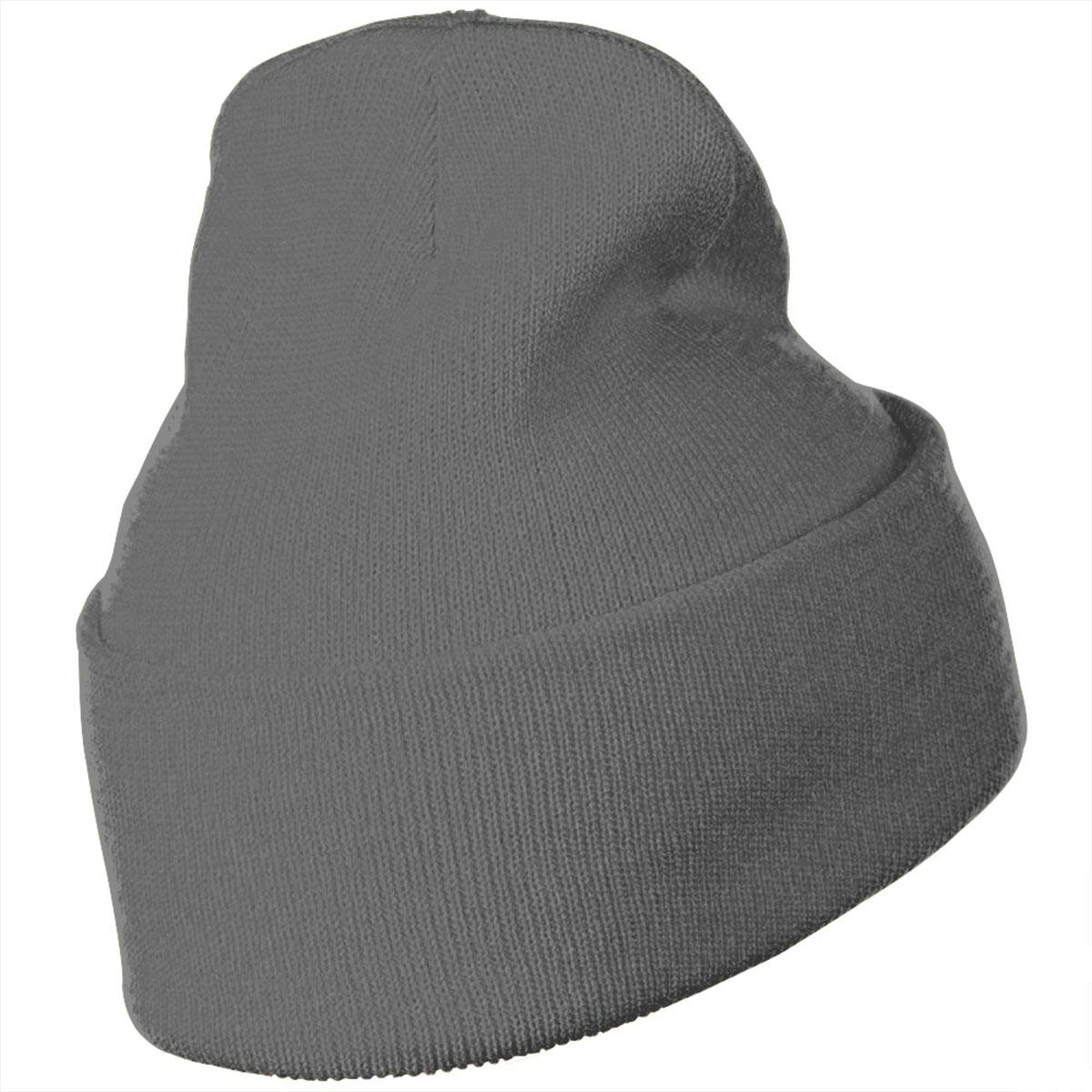 Flamingos Hat for Men and Women Winter Warm Hats Knit Slouchy Thick Skull Cap Black