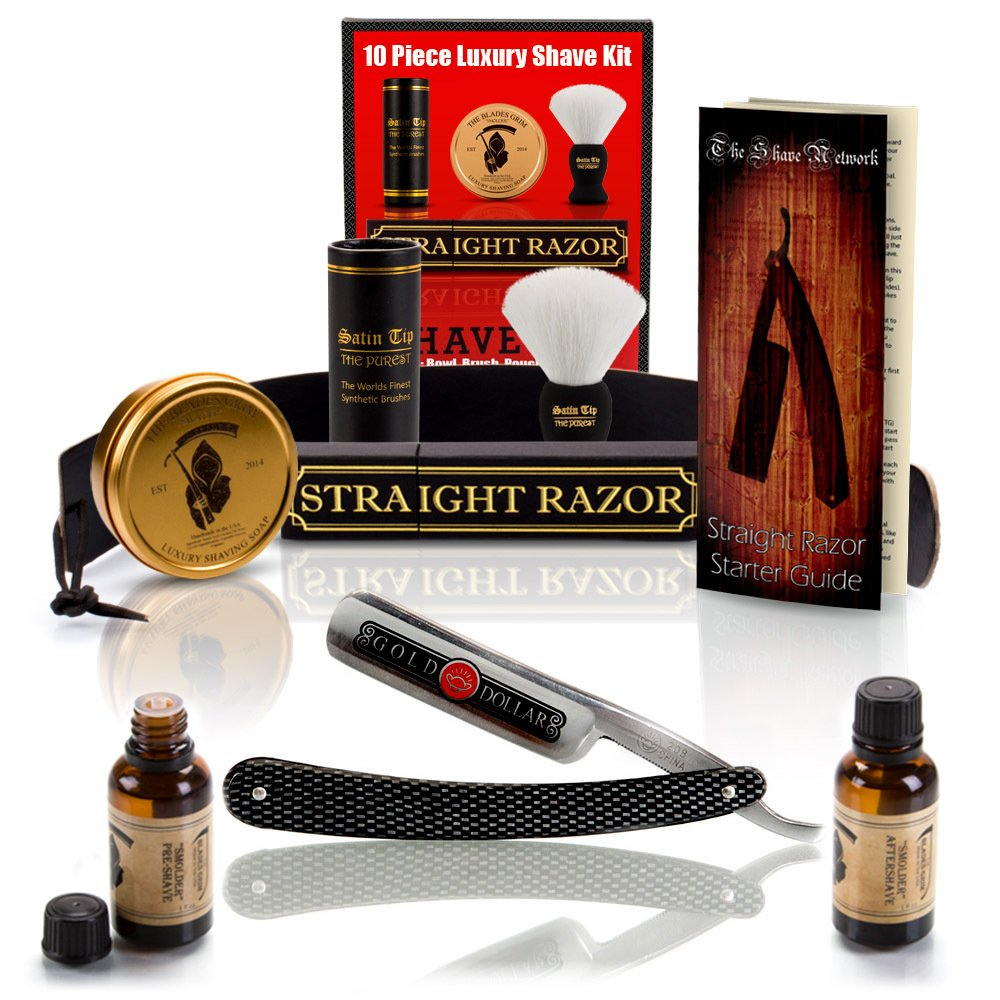 ~Shave Ready~ 10 Piece Set Shaving Straight Razor 6/8 by The Shave Network
