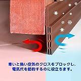 LEFON ドア下部 すき間テープ 隙間 テープ 防虫 防音 防風 防水 気密シール 粘着性高い ゴキブリ対策 玄関 ドア 室内 1m (ブラウン)