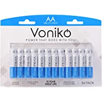 VONIKO - Premium Grade AA Batteries - 24 Pack - Alkaline Double AA Battery - Ultra Long-Lasting, Leakproof 1.5v Batteries - 10-Year Shelf Life