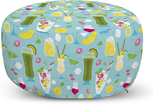 Baggage Covers Tropical Leaves Ice Cream Strawberry Washable Protective Case