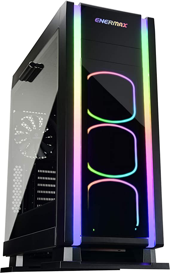 Enermax Saberay ADV Addressable RGB ATX Mid Tower Gaming PC Case with Tempered Glass