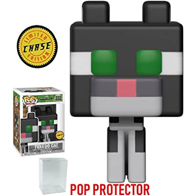Minecraft Funko 8-Bit Pop! Games Tuxedo Cat Chase Variant Limited Edition Vinyl Figure (Bundled with Pop Box Protector CASE): Toys & Games