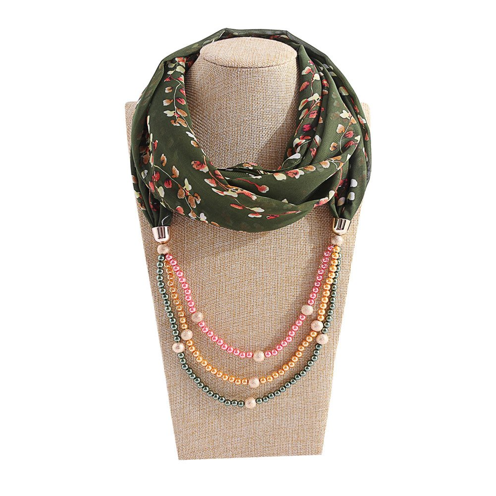 RICHTOER Chiffon Necklace Scarf Women Fashion Neckwear Scarf Accessories Scarves (Style 4 Color 13)
