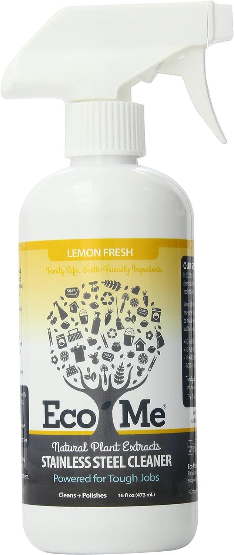 Eco Me Natural Stainless Steel Cleaner, Lemon Fresh, 16 Ounce