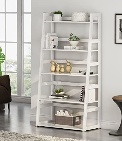 5-tier Corner Bookshelf Storage Cabinet Bookcase Rack Organizer Cd Book Decor New Professional Bathroom Fixtures