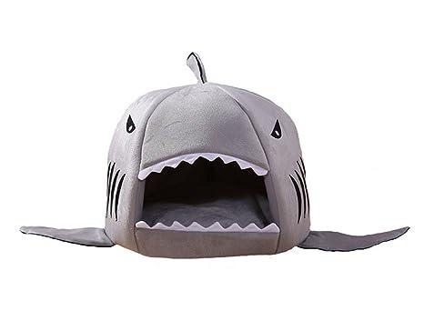 Acogedor tiburón casa de mascotas, El saco de dormir interior suave caliente de la cama del ...