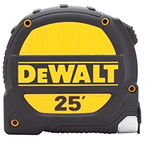 "DeWALT 25' Metal Impact Polyester Coated 1-1/4"" Tape Rule"