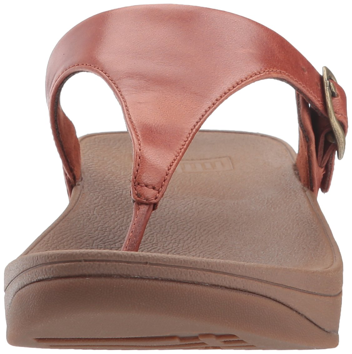 FitFlop Women's The Skinny Leather Toe-Thong Sandal, Dark Tan, 10 M US by FitFlop (Image #4)