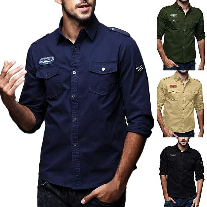 Rawdah_Camisas De Hombre Manga Larga Camisas De Hombre ...