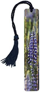 product image for Blue Lupine Wildflowers Color Photograph by Mike DeCesare - Wooden Bookmark with Tassel Search B07QFC6YRM to See Personalized Version
