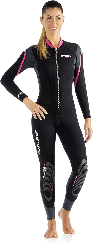 Snorkeling Cressi Womens Lei Premium Neoprene 2.5 mm Wetsuit Full Length Scuba Diving Surfing