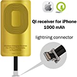 QI Receiver for IPhone 5-5c- SE- 6-6 Plus- 7-7 Plus- YTech IPhone Wireless Receiver- QI Receiver- Charging Receiver - QI Wireless Receiver IPhone- QI Receiver
