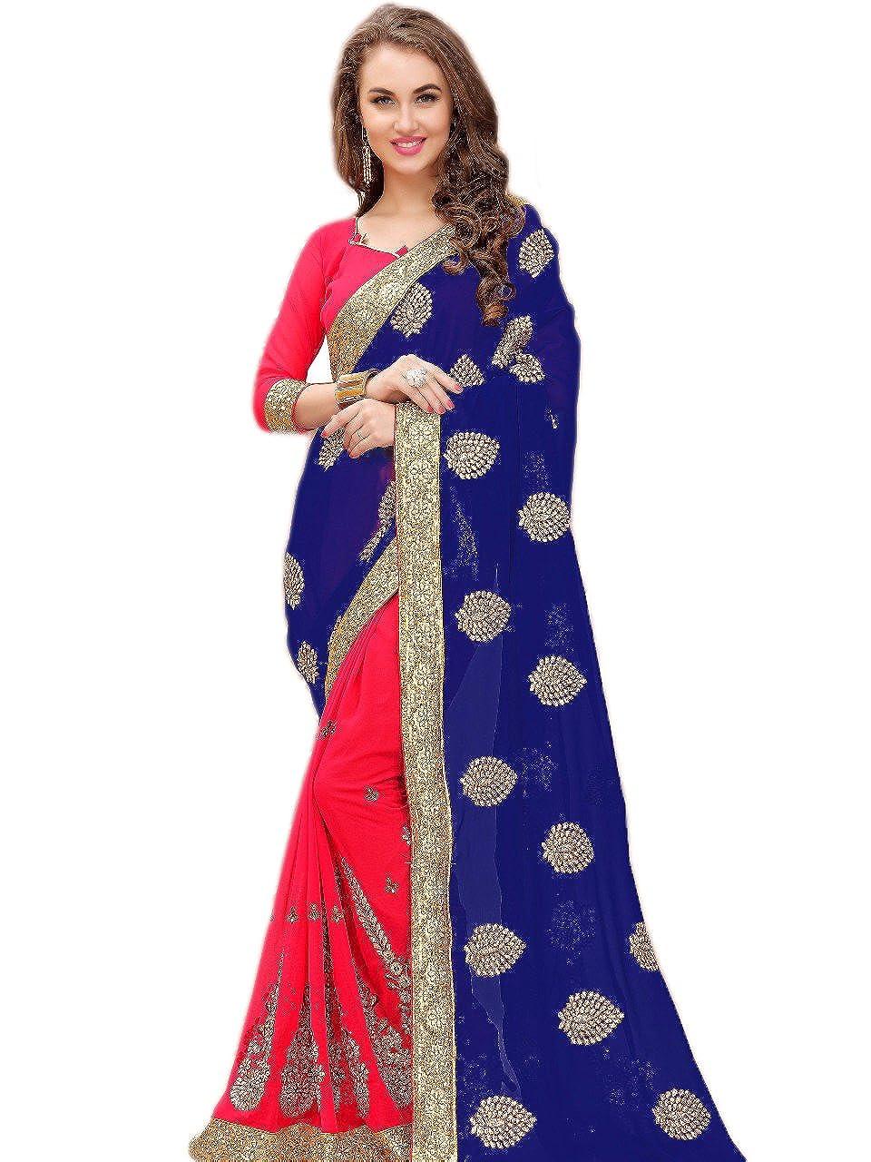 KIMANA Indian Designer Ethnic Bollywood Traditional Georgette Saree Sari S3864 51003864