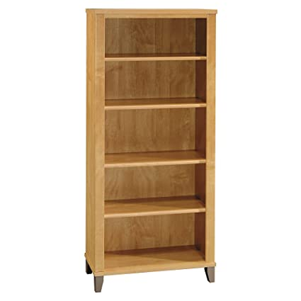 Lovely Bush Furniture Somerset 5 Shelf Bookcase In Maple Cross