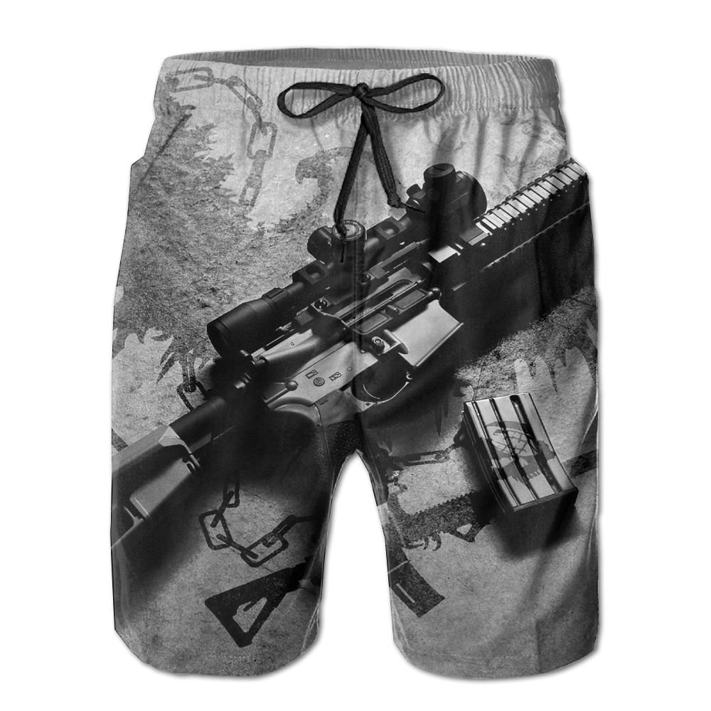 White Quick Quick Quick Dry Beach Shorts Gun Wings Swim Trunks Board Pants With Pockets For Men 06fa7c