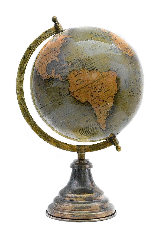 Lá mpara verde de escritorio Decoració n de la mesa (color giratoria World Globe 14 'pulgadas Mapa del mundo con soporte por' El Sr. Globo ' Mr. Globo