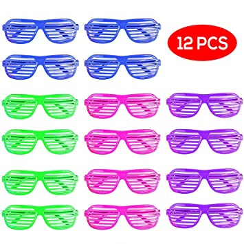 371fc7768d8 Bramble Party Shutter Shade Glasses - Novelty Favour Toys - 4 Assorted  Colours - Pack of 12 - Perfect for Kids   Party Gift Bags   Parties