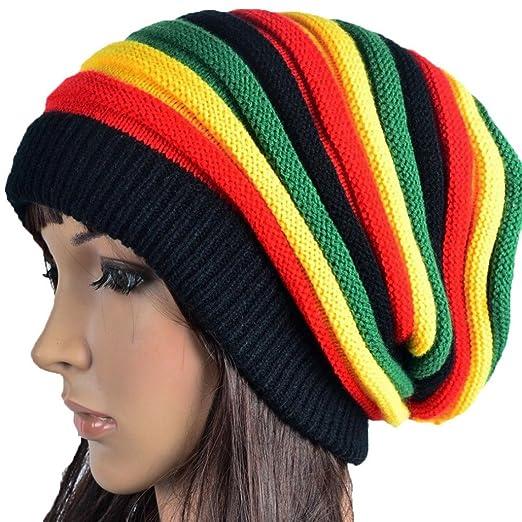 d7cb63e2b32 Image Unavailable. Image not available for. Color  Tuscom Knit Winter Warm  Women Men Hip-Hop Beanie Hat Baggy Unisex Ski Cap Skull