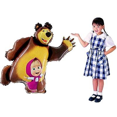 Masha and the Bear Super Shape Figure of Masha Balloon Party Supplies 35 inch: Toys & Games [5Bkhe1103743]