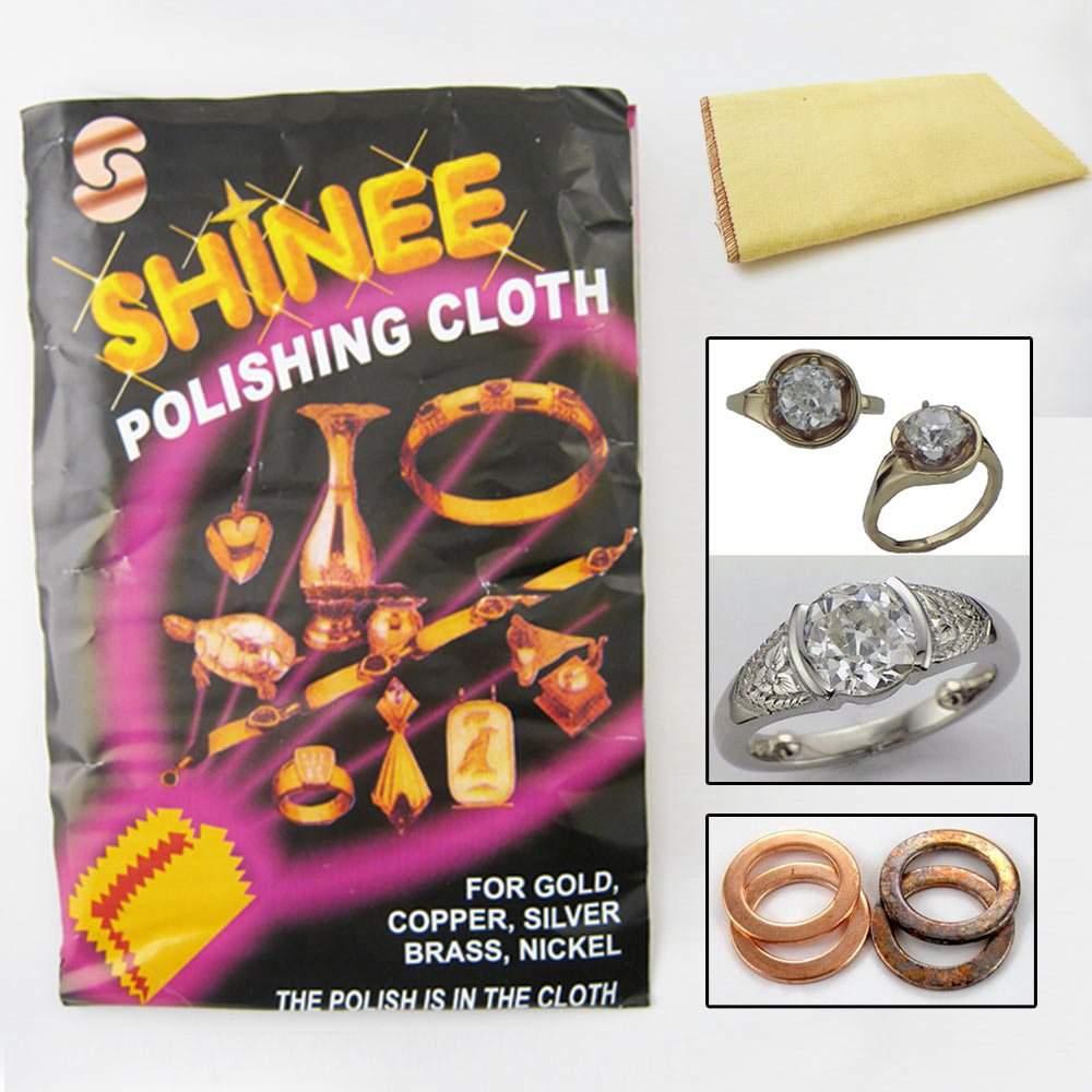 1 Shinee Jewelry Polishing Cloth Clean Silver Gold Cleanning Cooper Brass Nickel