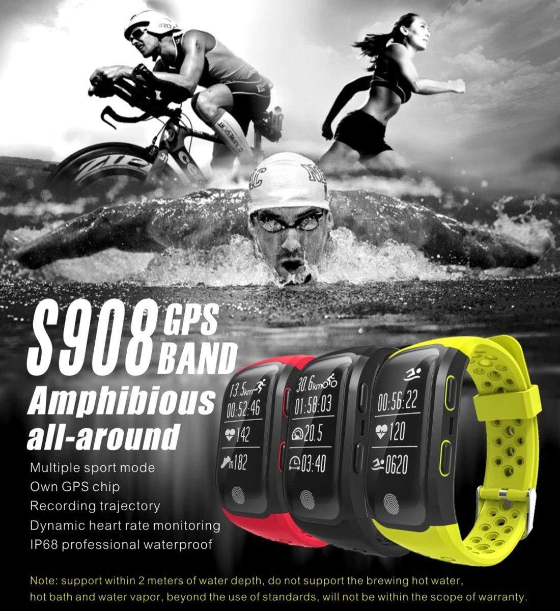 KANEED Fitness Tracker HR, S908 GPS Pulsera Bluetooth Banda ...