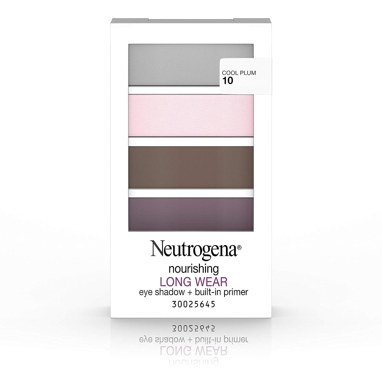 Neutrogena Nourishing Long Wear Eye Shadow + Built-In Primer, 10 Cool Plum, .24 Oz.