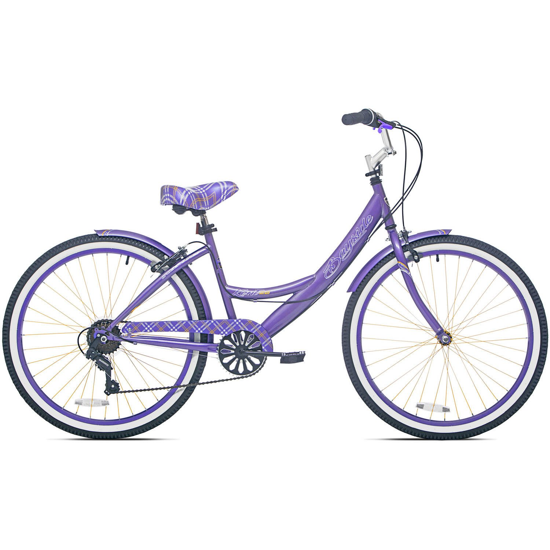 26 Inch 7 Speed Aluminum Frame Front & Rear Brake Kent Adult Cruiser Bike for Women with Fenders