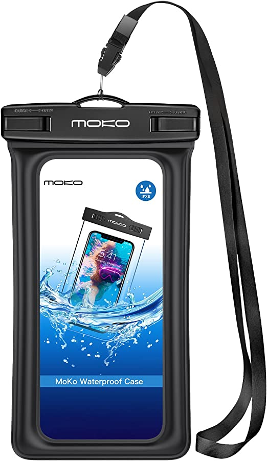 Amazon Com Moko Floating Waterproof Phone Pouch Floatable Phone Case Dry Bag With Lanyard Armband Compatible With Iphone 12 12 Mini 12 Pro Iphone 11 11 Pro X Xs Xr Xs Max 8 7 Samsung S10 S9 S8 A10e Note 10