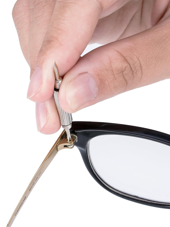 1100 Pezzi Assortiti di Piccole Viti Dado Rondella e 5 Paia Naselli con Micro Pinzette Cacciavite per Occhiali da Vista Occhiali da Sole Occhiali Orologi qDNZYx
