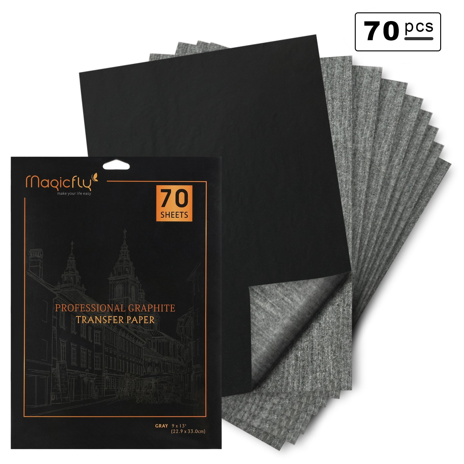 carbon paper magicfly 70 sheets 9 x 13 graphite transfer paper