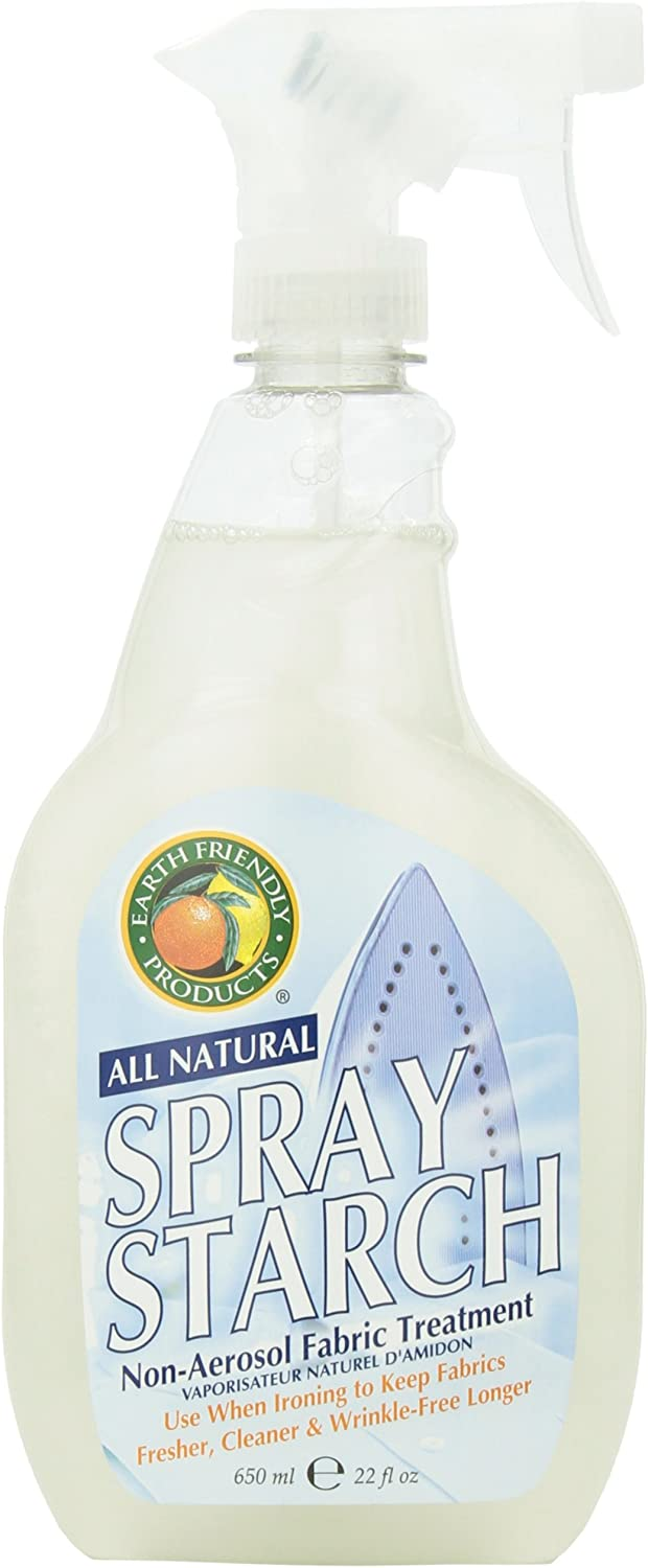 Earth Friendly Products Spray Starch, 22 Ounce (Pack of 3)