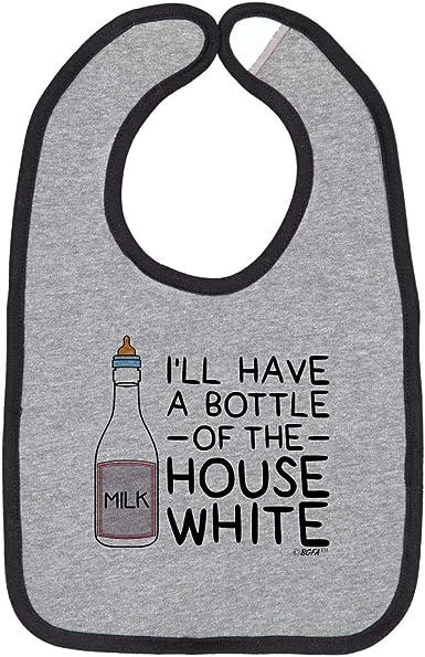 Bottle Of House White Cute baby Bibs Funny Infant Snap On Bib Baby Shower Gift