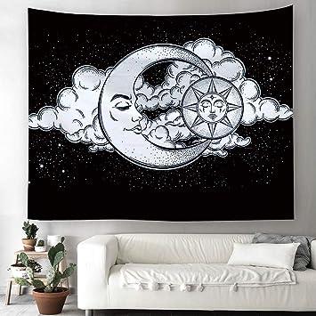 Sol Luna Mandala Tapiz Hippie bohemio pared adornos pared toalla pared de tapiz mantel Toalla de playa 200x150cm 1: Amazon.es: Hogar