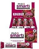 PhD Nutrition Smart Bar, Dark Chocolate Raspberry, Pack of 12 x 64g