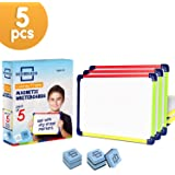 """Colored Frame Magnetic Dry Erase White Boards Pack of 5 l 9"""" X 12"""" Whiteboard"""