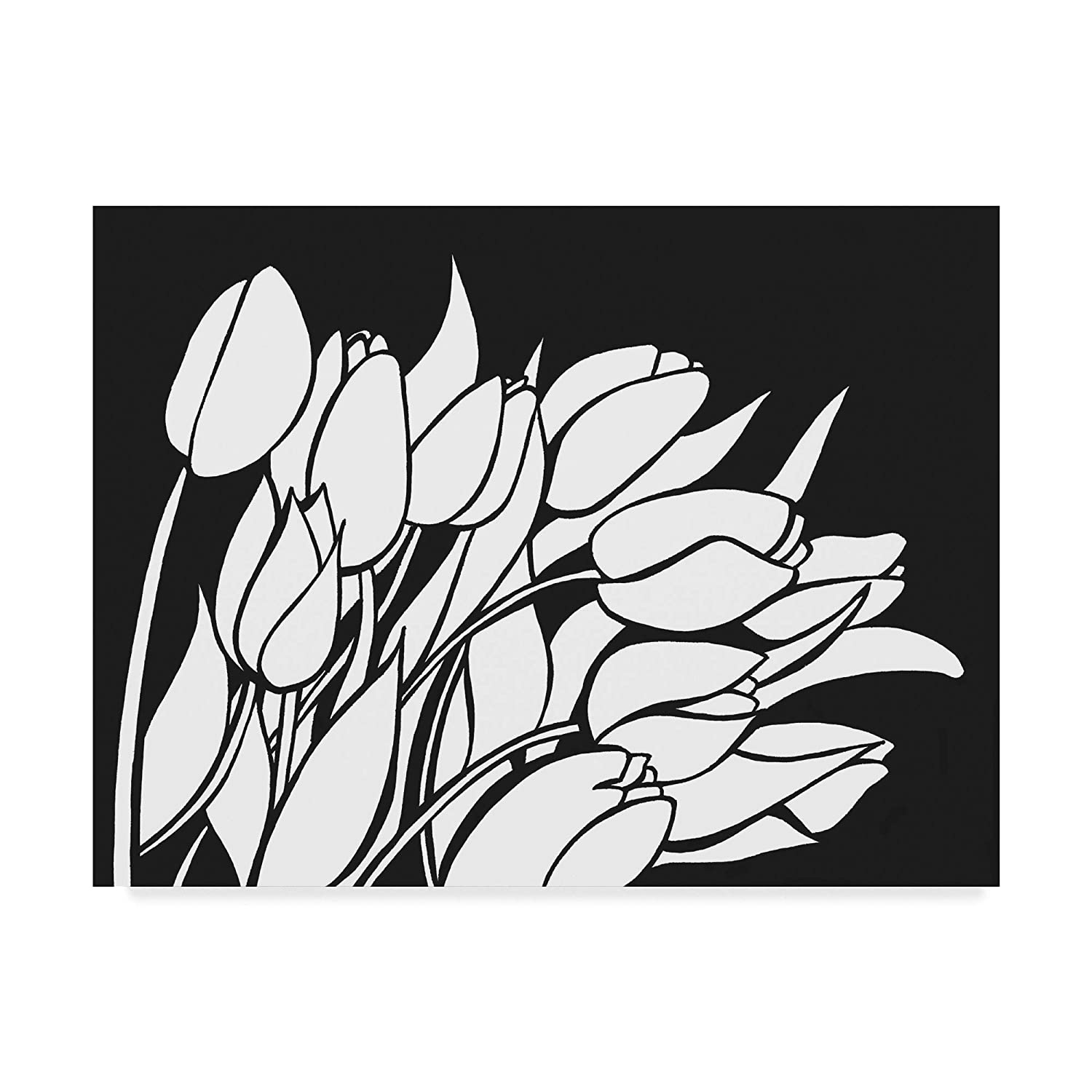 14x19\ Trademark Fine Art Tempting Tulips by Nicky Kumar Wall Decor, 14x19(ALI43790C1419GG)