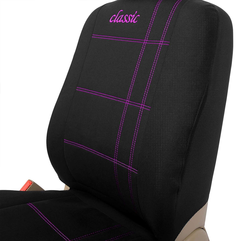 schwarz-violett universal eSituro SCSC0016 Auto Schonbezug Sitzbez/üge f/ür Auto mit Strich