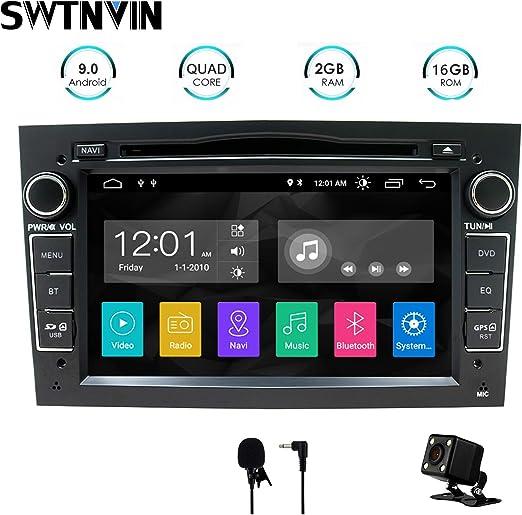 Swtnvin Android 10 0 Auto Audio Stereo Kopfeinheit Passt Für Opel Vauxhall Dvd Player Radio 7 Zoll Hd Touchscreen Gps Navigation Mit Bluetooth Wifi Lenkradsteuerung 2gb 16gb Schwarz Navigation
